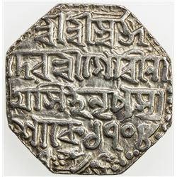 ASSAM: Gaurinatha Simha, 1780-1795, AR rupee (11.38g), SE1708/7 (1786), year 7. VF