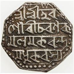 ASSAM: Gaurinatha Simha, 1780-1795, AR rupee (11.29g), SE1708/7 (1786), year 7. VF