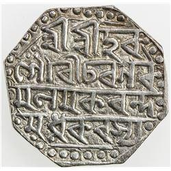 ASSAM: Gaurinatha Simha, 1780-1795, AR rupee (11.36g), SE1716 (1794). VF