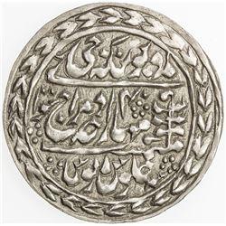 JAIPUR: Madho Singh II, 1880-1922, AR nazarana rupee (11.43g), Sawai Jaipur, 1919 year 40. AU