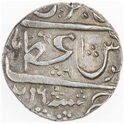 MARATHA: A'ZAMNAGAR: AR rupee (11.41g), A'zamnagar, AH(1)216 year 6. EF-AU