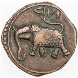 MYSORE: Tipu Sultan, 1782-1799, AE paisa (11.48g), Farrukhi, AM1218. VF-EF