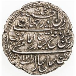 MYSORE: Tipu Sultan, 1782-1799, AR rupee (imami) (11.59g), Patan, AM1216, year 6, cyclic year 42. EF