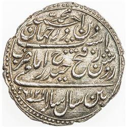 MYSORE: Tipu Sultan, 1782-1799, AR rupee (imami) (11.42g), Patan, AM1216, year 6, cyclic year 42. EF