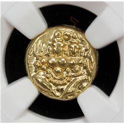 MYSORE: Krishna Raja Wodeyar, 1810-1868, AV pagoda, ND. NGC AU58