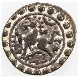 TRIPURA: Govinda Manikya, 1660, 1667-1676, AR 1/4 rupee (2.63g), SE1508. F