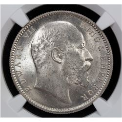 BRITISH INDIA: Edward VII, 1901-1910, AR rupee, 1903(c)