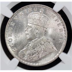 BRITISH INDIA: George V, 1910-1936, AR rupee, 1916(b)