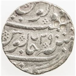 FRENCH INDIA: PONDICHERY: AR rupee (11.06g), Arkat (Arcot), AH115x year 29. VF