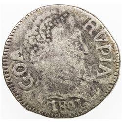 PORTUGUESE INDIA: GOA: Joao VI, Regent, 1799-1816, AR rupia (10.73g), 1801. F