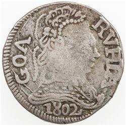 PORTUGUESE INDIA: GOA: Joao VI, Regent, 1799-1816, AR rupia (10.87g), 1802. VF