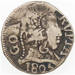 PORTUGUESE INDIA: GOA: Joao VI, Regent, 1799-1816, AR rupia (10.76g), 1805. F-VF