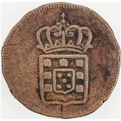 PORTUGUESE INDIA: GOA: Portuguese Colony, AE tanga, ND [1826-34]. VF