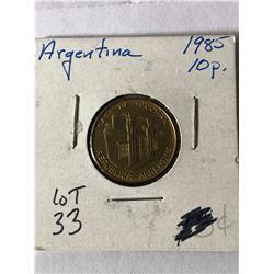 Beautiful 1985 ARGENTINA 10 Pesos MS High Grade