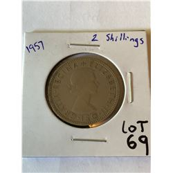1957 Great Britain 2 Shillings