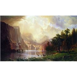Between the Sierra Nevada Mountains by Albert Bierstadt