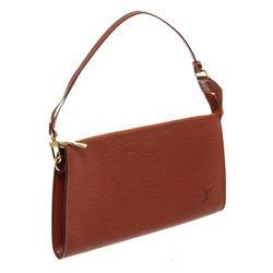 Louis Vuitton Brown Epi Leather Pochette Shoulder Bag