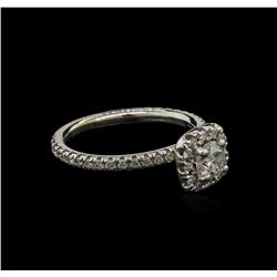 0.92 ctw Diamond Ring - 14KT White Gold