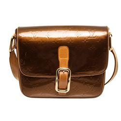 Louis Vuitton Bronze Vernis Leather Christie GM Crossbody Bag