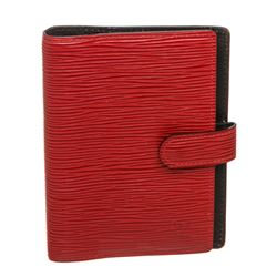 Louis Vuitton Red Epi Leather Small Ring Agenda Holder Cover