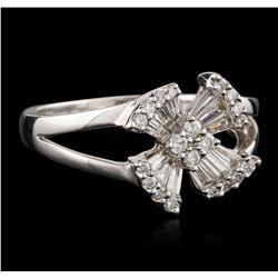18KT White Gold 0.20 ctw Diamond Ring