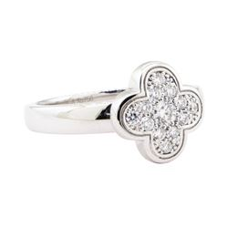 Van Cleef and Arpels 0.33 ctw Diamond Ring - 18KT White Gold