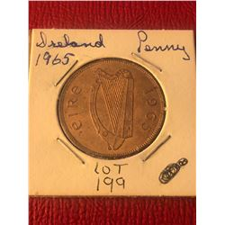 1965 Ireland Large Penny in UNC High Grade