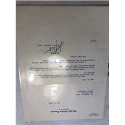 July 1962 US Senate Jacob Javits Signed Letter on US Senate Letterhead