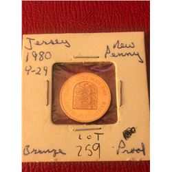 1980 JERSEY PROOF New Penny