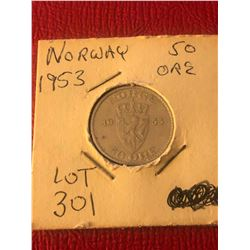 1953 Norway 50 Ore