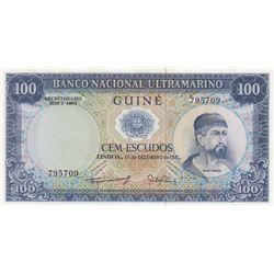 Portuguese Guinea, 100 Escudos, 1971, UNC, p45br/serial number: 795909