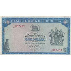Rhodesia, 1 Dollar, 1973, VF, p30gbr/serial number: L/49 087469