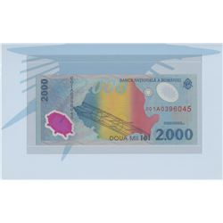 Romania, 2.000 Lei, 1999, UNC, p111b, FOLDERbr/serial number: 001A0396045, commemorative issue