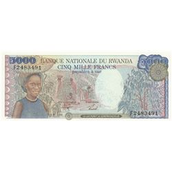 Rwanda, 5.000 Francs, 1988, UNC, p22br/serial number: F2483491
