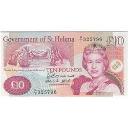 Saint Helena, 10 Pounds, 2004, UNC, p12abr/Queen Elizabeth II portrait, serial number: P/1 325796