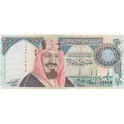Saudi Arabia, 20 Dinars, 1999, XF, p27br/commemorative Issue