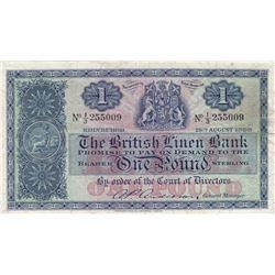 Scotland, 1 Pound, 1958, VF, p166br/serial number: 1/3 255009