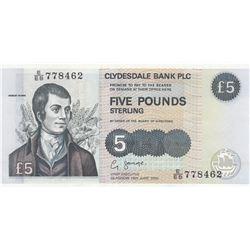 Scotland, 5 Pounds, 2002, UNC, p218dbr/serial number: E/EB 778462