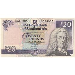Scotland, 20 Pounds, 2000, AUNC, p354dbr/serial number: B/47 528935