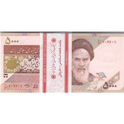 Iran, 5.000 Rials, 2009, UNC, p150, BUNDLEbr/100 banknotes in series