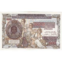 Serbia, 1.000 Dinare, 1941, AUNC, p24br/serial number: 834/B.0076