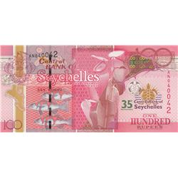 Seychelles, 100 Rupees, 2013, UNC, p47br/serial number: AN 040042, commemorative issue