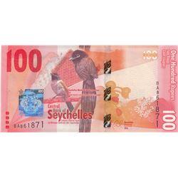 Seychelles, 100 Rupees, 2016, UNC, p50br/serial number: BA 861871