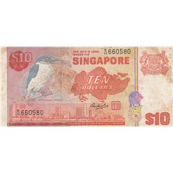 Singapore, 10 Dollars, 1976, VF, p11abr/serial number: B/86 660580