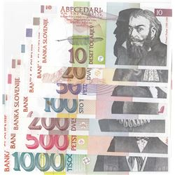 Slovenia, 10 Tolarjev, 20 Tolarjev, 50 Tolarjev, 100 Tolarjev, 200 Tolarjev, 500 Tolarjev and 1000 T