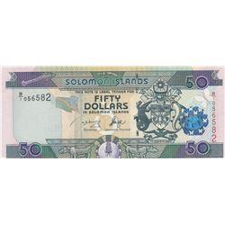 Solomon Islands, 50 Dollars, 1986, UNC, p17br/serial number: B/1 056582