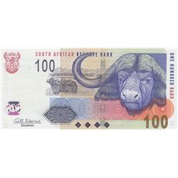 South Africa Republic, 100 Rand, 2009, UNC, p131bbr/serial number: BB 3961849D