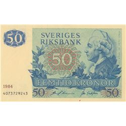 Sweden, 50 Kronor, 1984, UNC, p53dbr/Replacement note, serial number: 4073729243