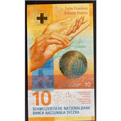 Switzerland, 10 Franken, 2016, UNC, p75br/serial number: 16R 3748468, there is a scar on the lower r