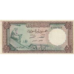 Syria, 50 Pounds, 1973, VF (+), p97br/